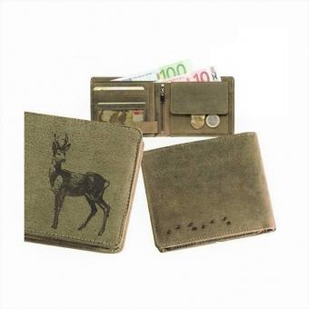 Kožená peněženka srnec široká zelená