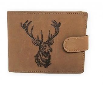 Kožená peněženka jelen se zapínaním