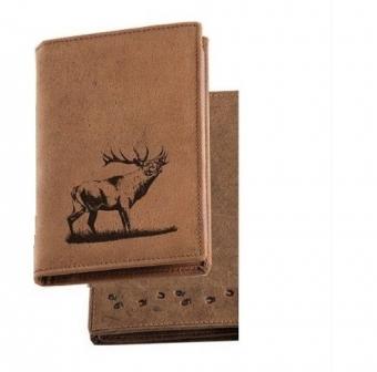 Pouzdro na doklady - Troubící jelen