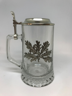 Skleněný džbán - dubové listí