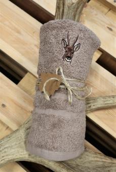 Myslivecký ručník srnec - béžový