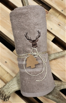 Myslivecká osuška jelen - béžová