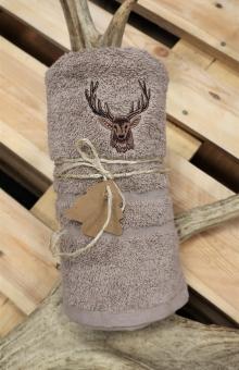 Myslivecký ručník jelen - béžový