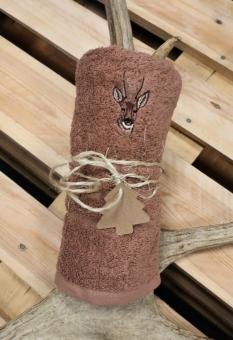 Myslivecký ručník srnec - hnědý
