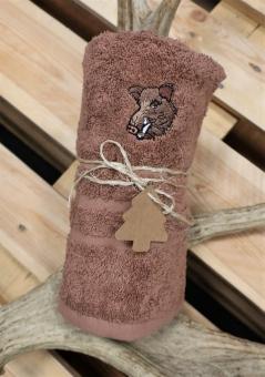 Myslivecký ručník divočák - hnědý