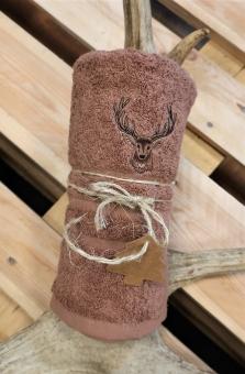 Myslivecký ručník jelen - hnědý