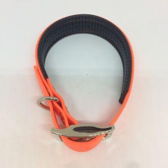 Oranžový obojek široký 3 cm