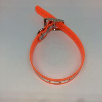 Oranžový obojek s reflexním pruhem