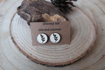 Náušnice Olivový list